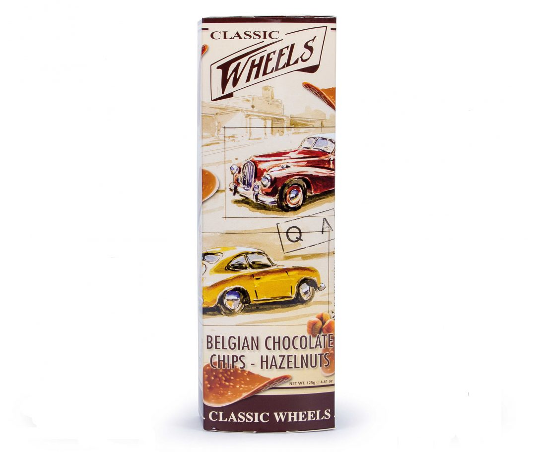 Classic Wheels Chocolate Chips Hazelnut 125g