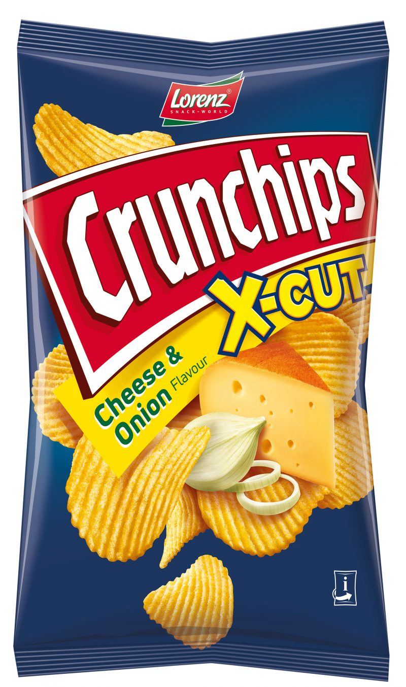 Lorenz Crunchips X-Cut Cheese&Onion 75g