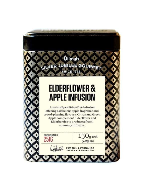 Dilmah Silver Jubilee Gourmet Elderflower Apple Infusion 150g