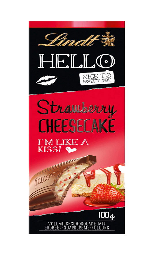 Hello Strawberry Cheesecake 100g