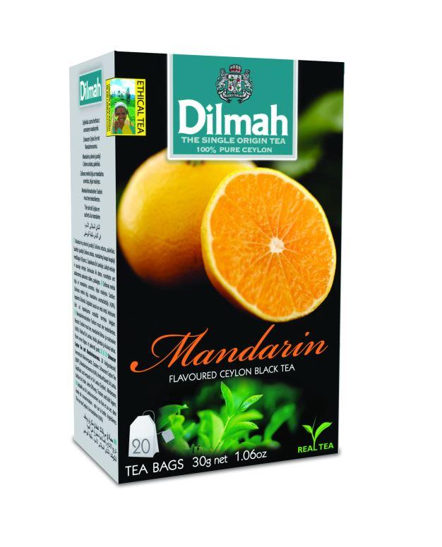Dilmah Mandarin aromás fekete tea aromazáró dobozban 20*1,5g