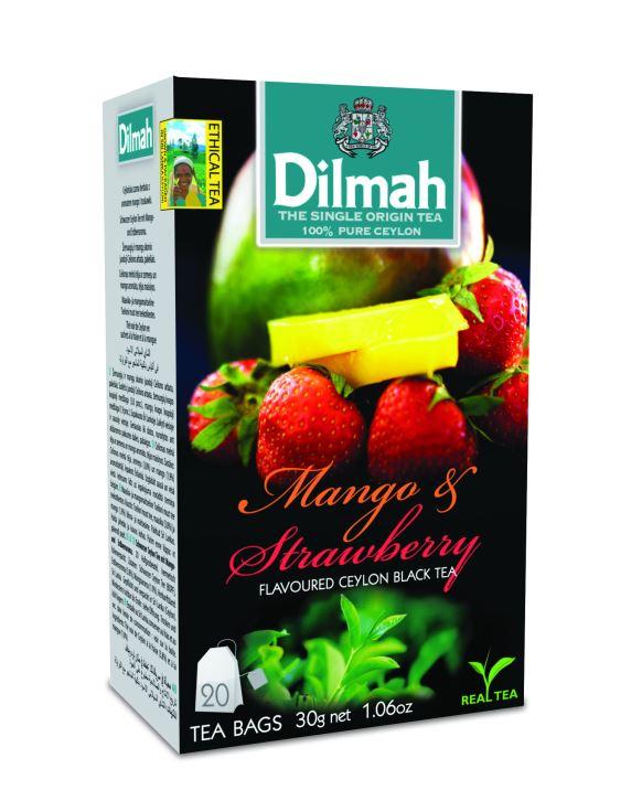 Dilmah Mango & Strawberry/Mango&Eper aromás fekete tea aromazáró dobozban 20*1,5g