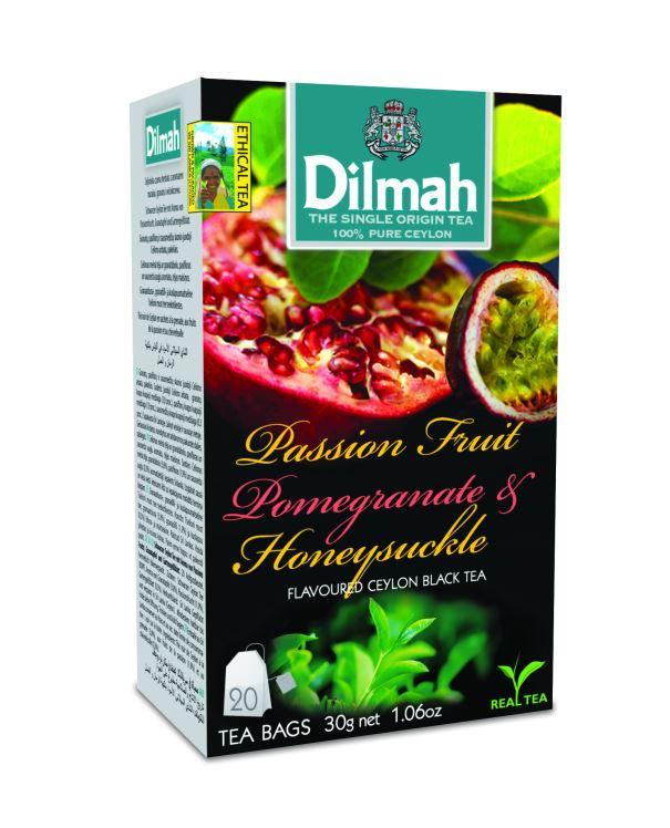 Dilmah Passion & Pomegranate & Honeysuckle aromás fekete tea 20*1,5