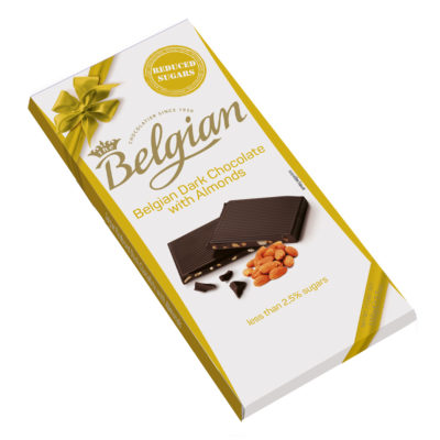 Belgian Dark Almonds No Sugar mandulás étcsokoládé 100g