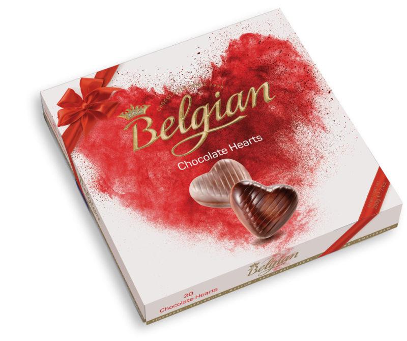 Belgian Hearts Hazelnut szívdesszert 200g