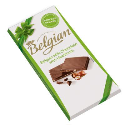 Belgian Milk Hazelnut No Sugar mogyorós tejcsokoládé 100g
