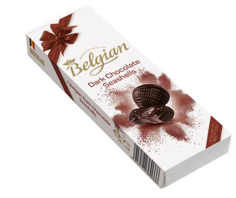 Belgian Seashells Dark tengergyümölcse desszert 60g