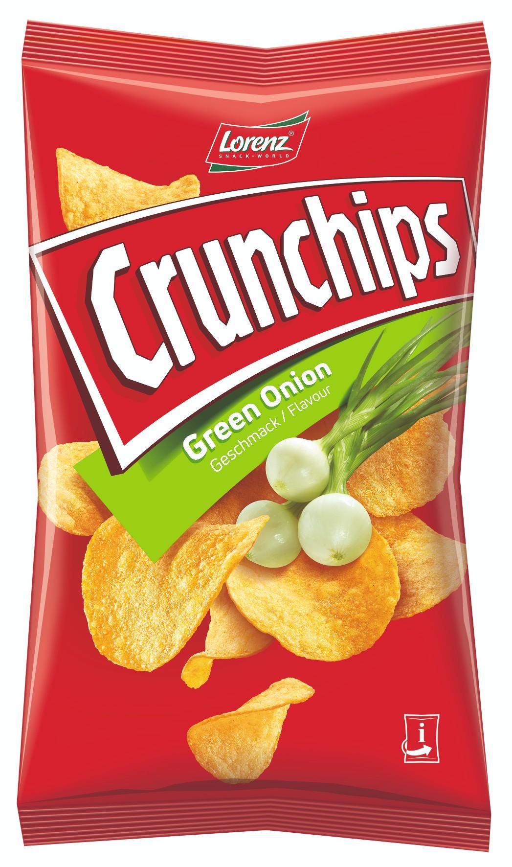 Lorenz Crunchips Green Onion 75g