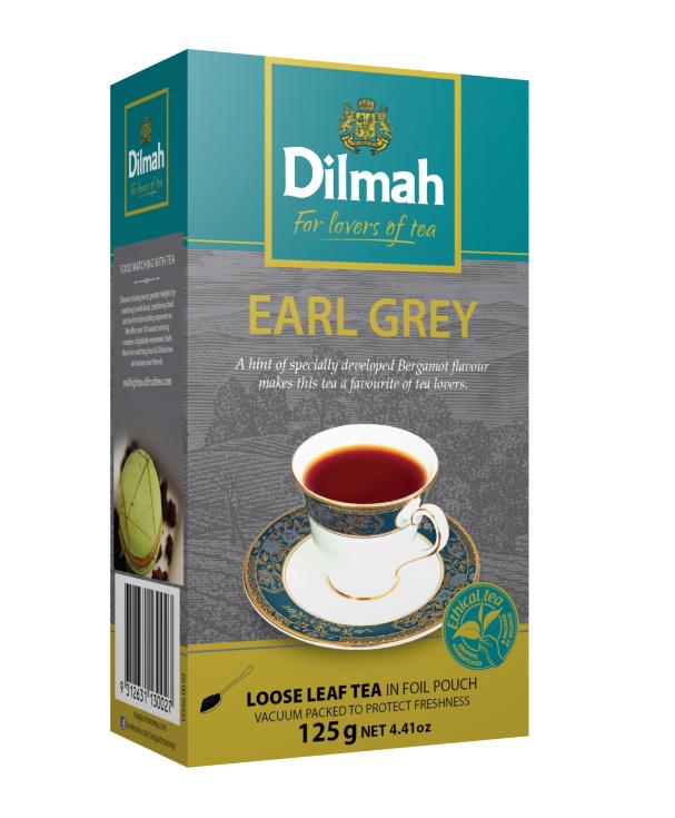 Dilmah Earl Grey Leaf tea fekete tea 125g