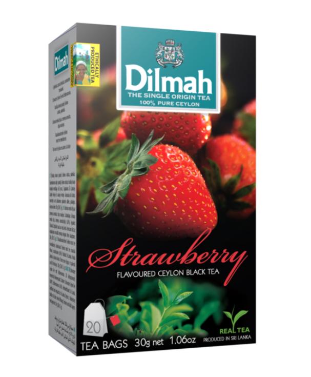 Strawberry/Epres aromás fekete tea aromazáró dobozban 20*1,5g