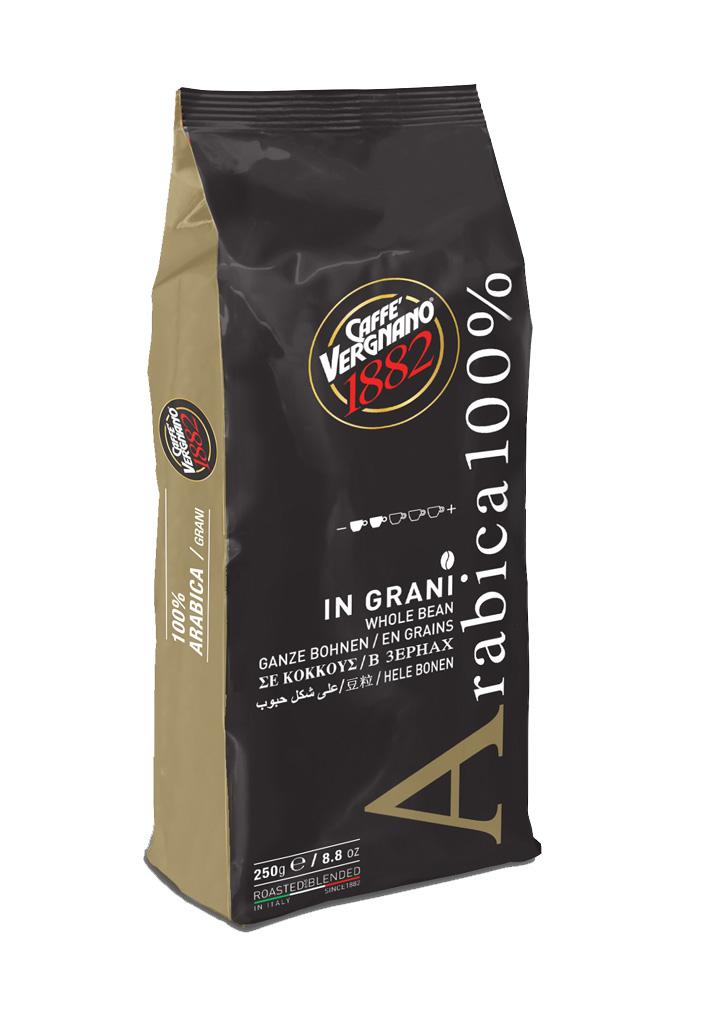 Caffe Vergnano 100% Arabica Coffee Beans szemes 250g