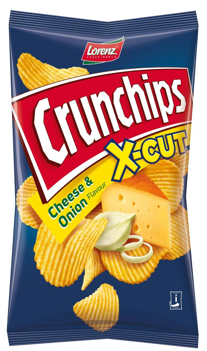 Lorenz Crunchips X-Cut Cheese&Onion 75g