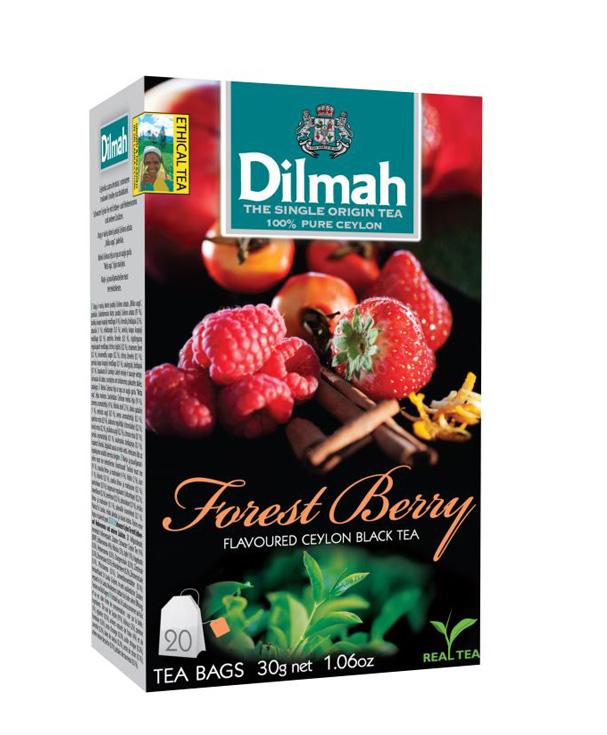 Dilmah Forest Berry/Erdei gyümölcs aromás fekete tea aromazáró dobozban 20*1,5g