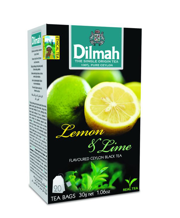 Dilmah Lemon & Lime citrom aromás fekete tea aromázaró dobozban 20*1,5g