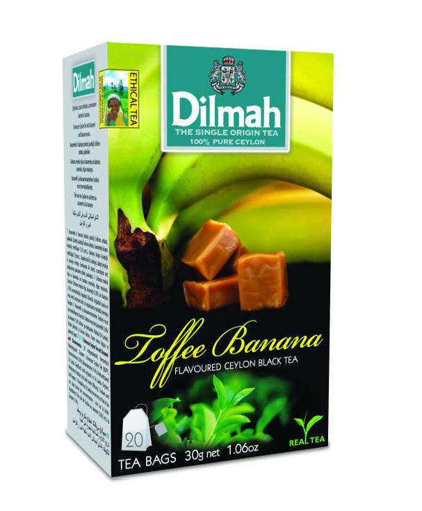 Dilmah Toffee & Banana/Caramel & Banán aromás fekete tea aromazáró dobozban 20*1,5g