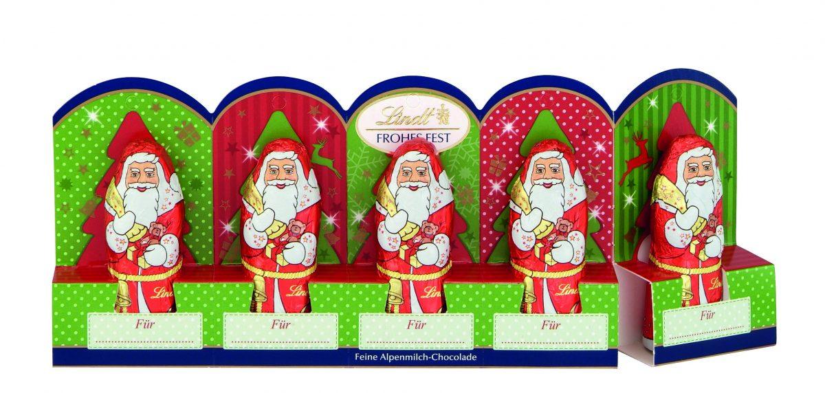 Lindt Santa Claus mini télapó 5x10g