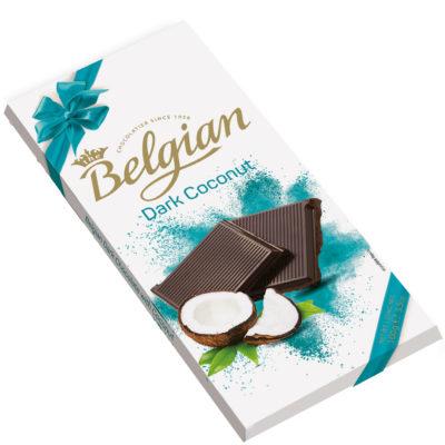 Belgian Dark Coconut étcsokoládé 100g