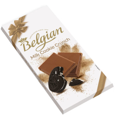 Belgian Milk Cookie Crunch kekszdarabkás tejcsokoládé 100g