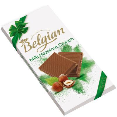 Belgian Milk Hazelnut Crunch mogyorós tejcsokoládé 100g