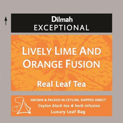 Lively Lime & Orange fekete tea valódi gyümölccsel 50x2g