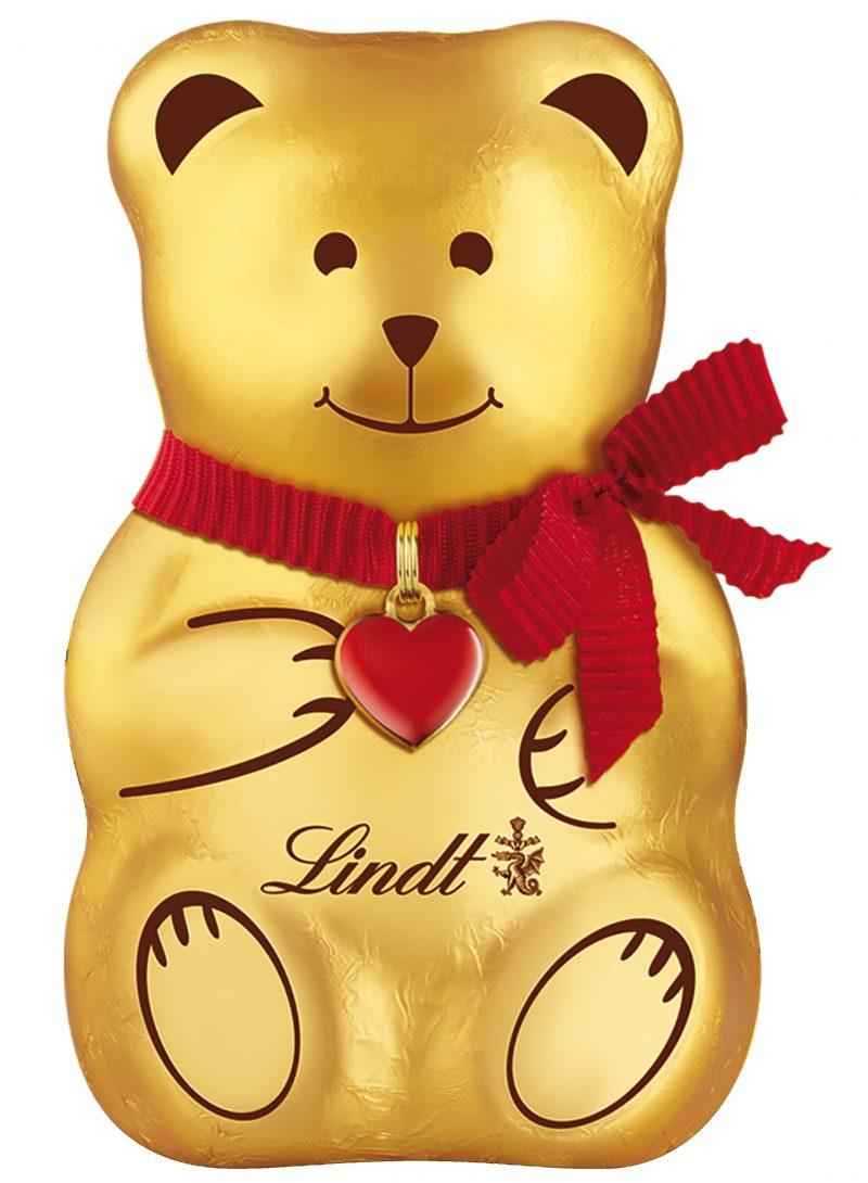 Lindt Bear mackó szívvel a nyakában 100g
