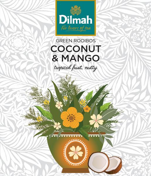 Green Rooibos Coconut & Mango – Zöld roiboos, kókusz – mangó főzet