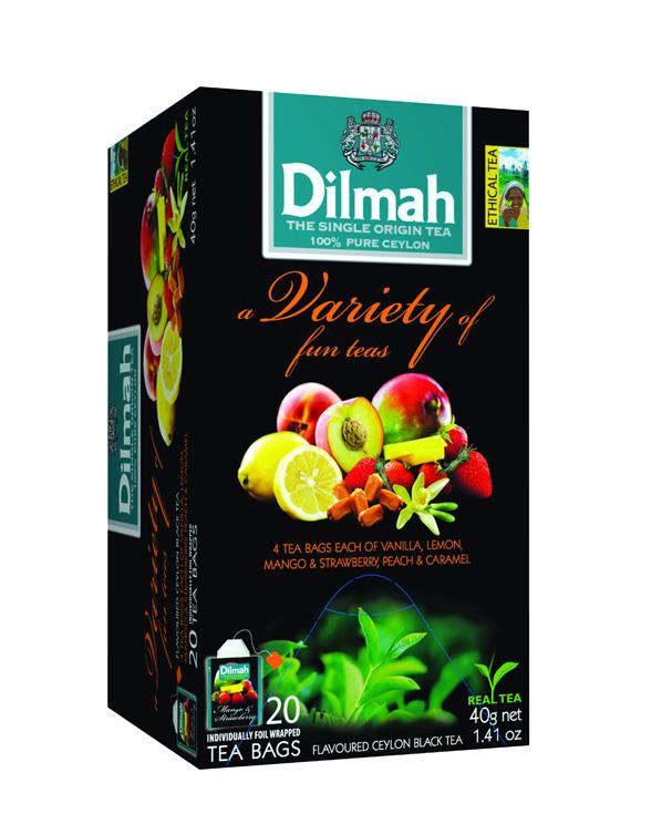 Variety of Fun Teas vegyes gyümölcs aromás fekete tea válogatás 20x2g