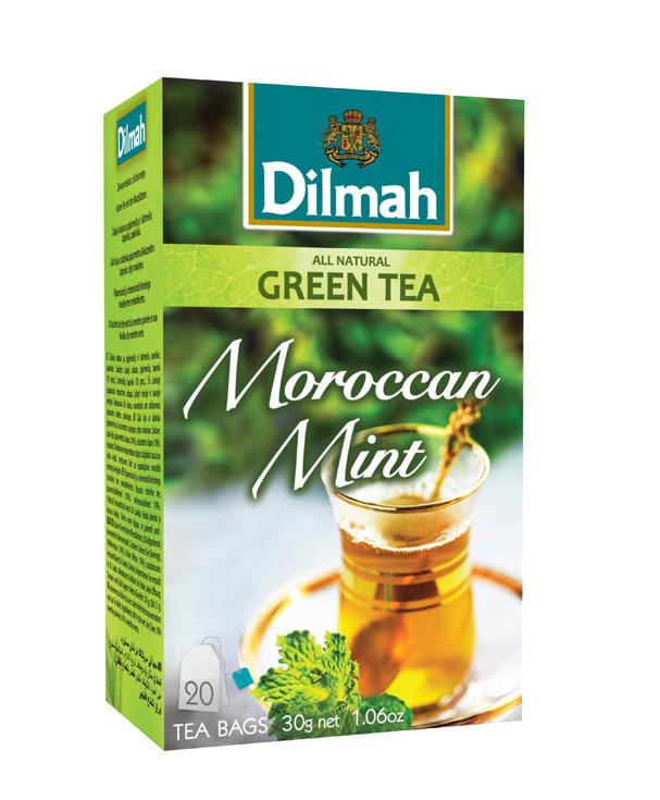 Dilmah Moroccan Mint mentás zöldtea aromazáró dobozban 20*1,5g