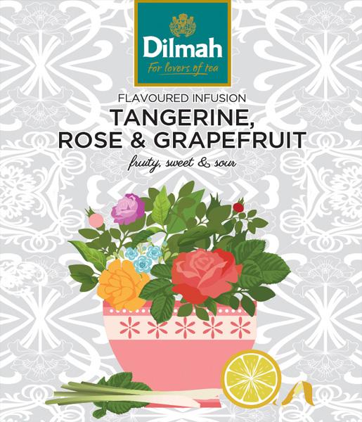 Flavoured Infusion Tangerine, Rose&Grapefruit – Mandarin, rózsa – grapefruit főzet