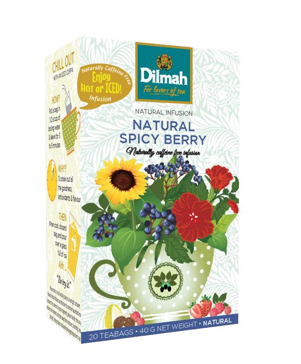 Dilmah Spicy Berry  – Erdei gyümölcs főzet 20×1,5g