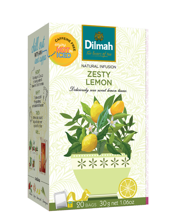 Dilmah Zesty Lemon – Trópusi gyümölcs főzet 20×1,5g