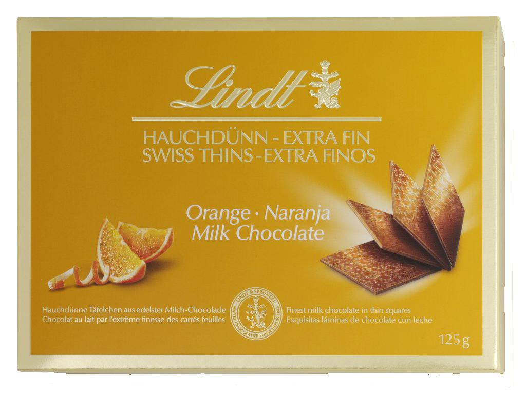Thins Orange tejcsokoládé lapocskák 125g