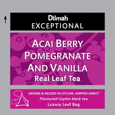 Acai Berry Pomegranate and Vanilla aromás fekete tea 50x2g