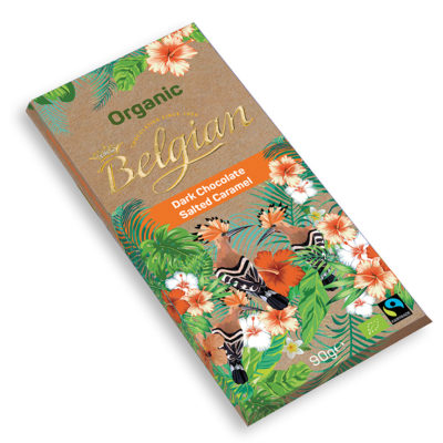 Belgian Organic táblás sós-karamel étcsokoládé 90g