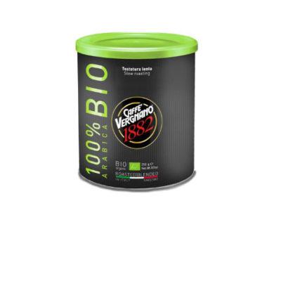 Vergnano 100% Arabica BIO őrölt kávé fémdobozban 250g