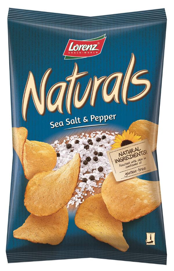 Lorenz Naturals Salt&Pepper sós-borsos chips 100g