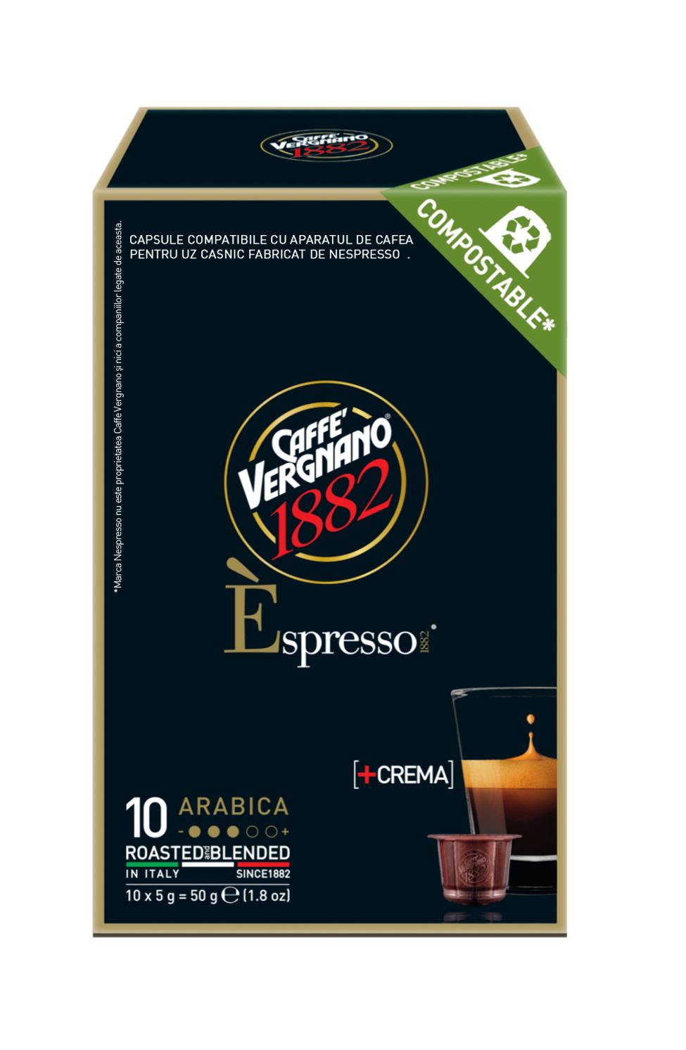 Vergnano E'spresso Arabica komposztálható kapszula 50g
