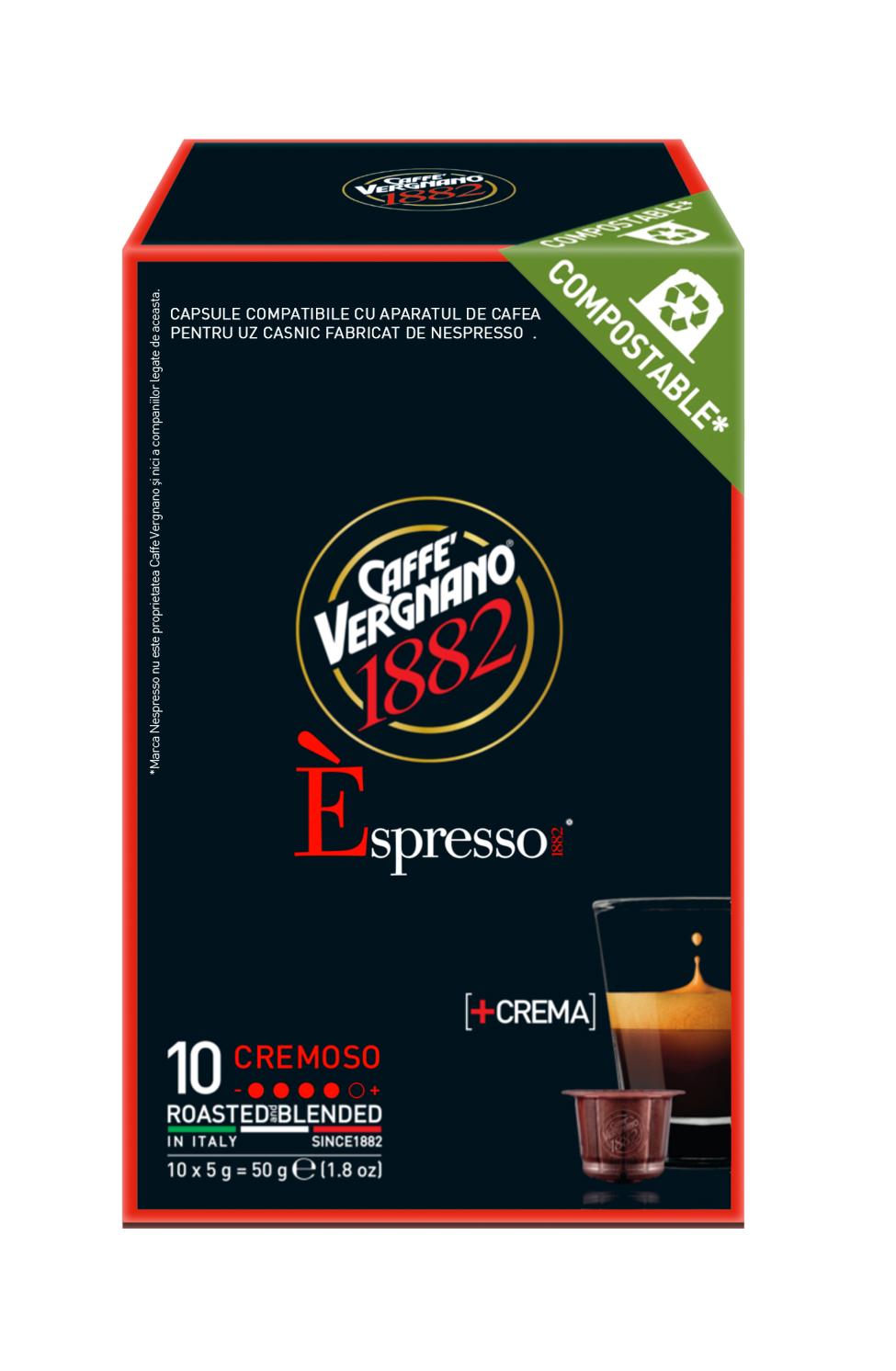Vergnano E'spresso Cremoso komposztálható kapszula 50g