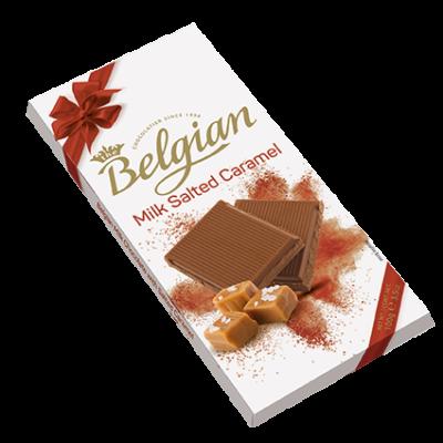 Belgian Milk Salted Caramel tejcsokoládé 100g
